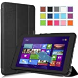 MoKo Dell Venue 8 PRO Case - Ultra Slim Lightweight Smart-Shell Stand Case for Dell Venue 8 PRO 8' Inch Windows 8.1 Tablet, Black (Test Chad)