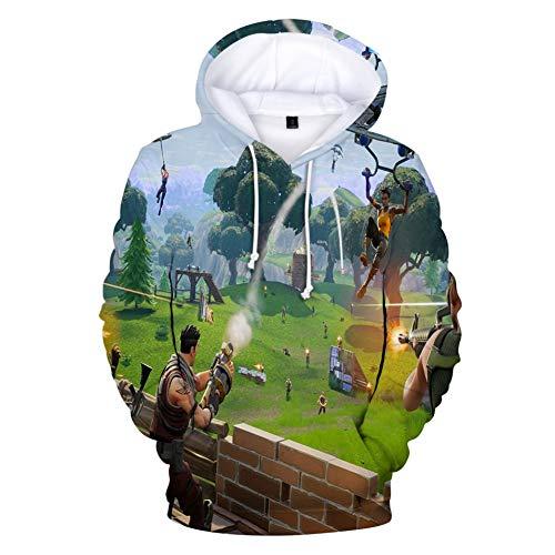 AGOLOD - Sudadera unisex con capucha, bolsillos y estampado Verde Shoot Green