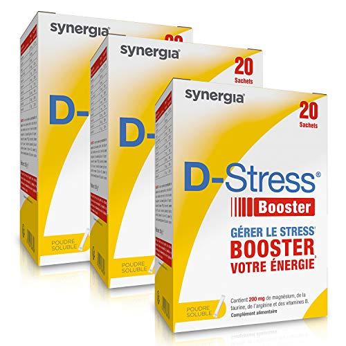 D-Stress Booster (+1 tube d'Acérola offert) ➠ Magnésium hautement assimilé, taurine, vitamines B ➠ Origine France ➠ Lot de 3 + 1 tube d'Acérola offert