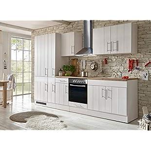 Customer reviews Respekta Kitchen Kitchenette Fitted Kitchen Cottage Kitchen Fitted Kitchen Fully Fitted Kitchen 300cm White:Kisaran