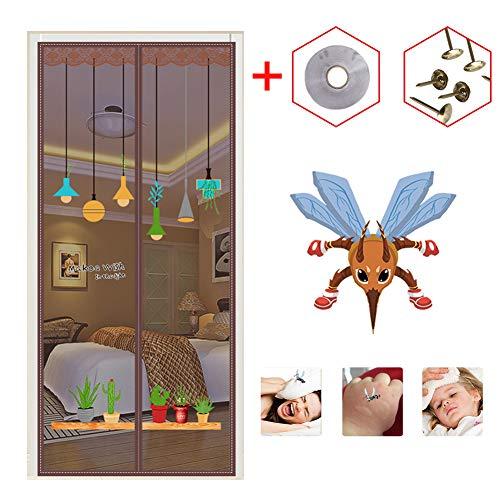 Magnetische Horren Deuren met krachtige magneten, bescherming tegen insecten Klamboe Mesh Curtain voor balkondeur Living Room Patio Deur,A,130×220cm