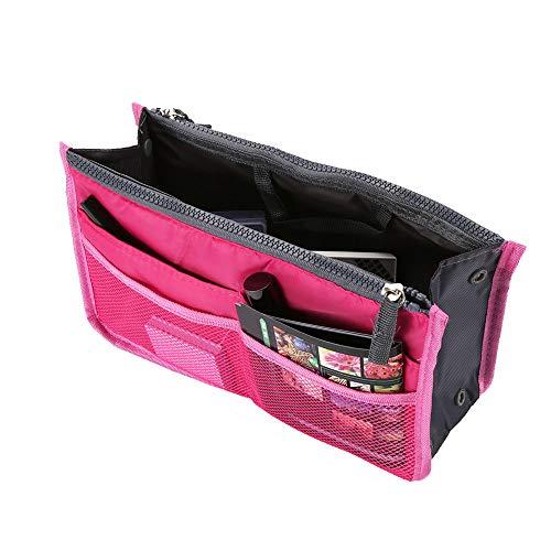 Bolsa Organizador de Viaje para Maquillaje, Cosméticos, Artículos de Higiene Personal, Lencería o Más. Talla Mediana. (Rosa)