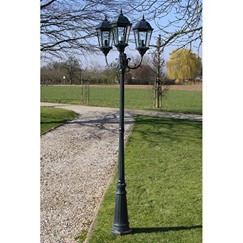 Cikonielf Farola de Pie para Exterior 230CM, Impermeable IP44, Base E27, Lámpara de Jardín con Poste, iluminación Exterior 100W