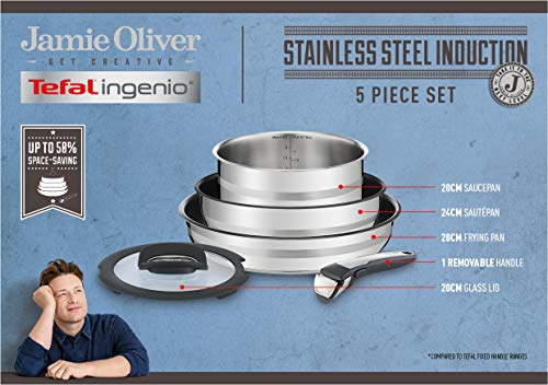 Tefal Ingenio Jamie Oliver Set 5 pcs (L9569032) por 169,12