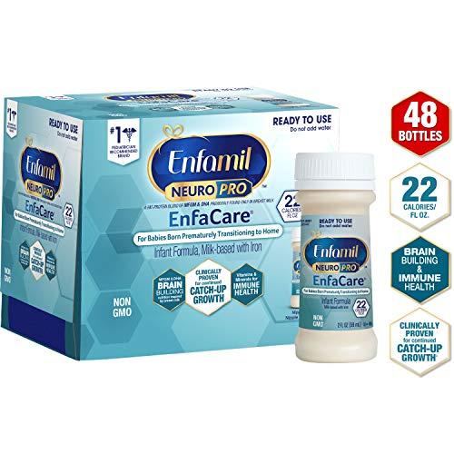 Enfamil NeuroPro EnfaCare Ready to Feed Premature Baby Formula Milk Nursette, 2 fl. oz. bottles (48 bottles) Iron, MFGM, Omega 3 DHA, Probiotics, Immune Support & Brain Development (Package May Vary)