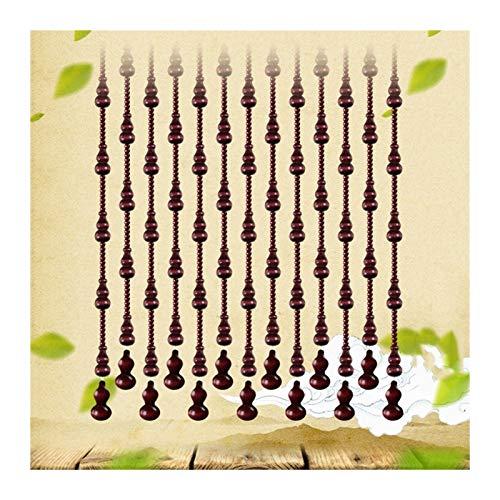 N / A CHAXIA Cortina di Perline Tenda, in Rilievo Tenda della Porta Zucca Pendente Soggiorno Entrata Tenda Decorativa, Rosso Scuro Dimensioni Personalizzabili (Color : A, Size : 41 Strands-100x198cm)