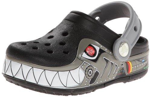 Crocs CrocsLights Robo Shark, Jungen Clogs, Schwarz (Black/Silver), 24/25 EU
