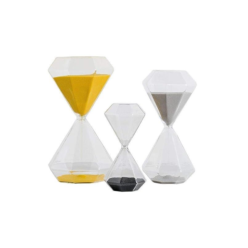 試みる裕福なナビゲーションJIAYIZS 砂時計、シンプルでモダンなタイマー砂時計、美しい誕生日プレゼントのワインキャビネットの装飾の装飾品 (UnitCount : Yellow -60minute)