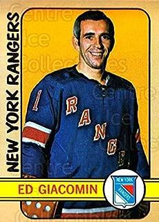 (CI) Ed Giacomin Hockey Card 1972-73 Topps 165 Ed Giacomin