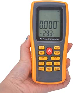 YUWEIPING Anemometer Handheld Digital Anemometer Anemometer High Precision Wind Speed Air Temperature Tester (Color