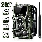 BFZJ Hunting Trail Camera,16MP 1080P SMS Wildlife Infrared Cameras 2G MMS Photo Trap Surveillance Night Vision Cams,IP65 Waterproof