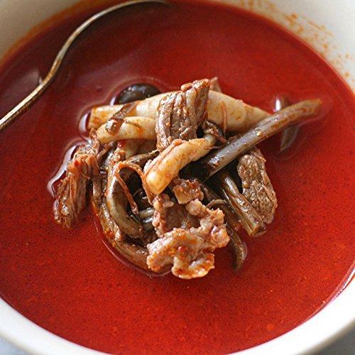 ユッケジャンスープ (400g×3パック) 和牛の濃厚スープ 長野産しめじとゼンマイ入 コクと辛さの味わい深いスープ
