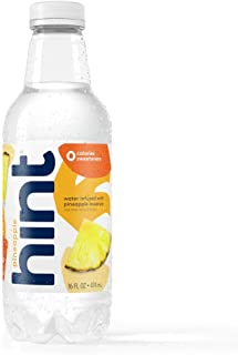 Hint Water Pineapple (Pack of 12) 16 Ounce Bottles, Pure Water Infused with Pineapple, Zero Sugar, Zero Calories, Zero Swe...