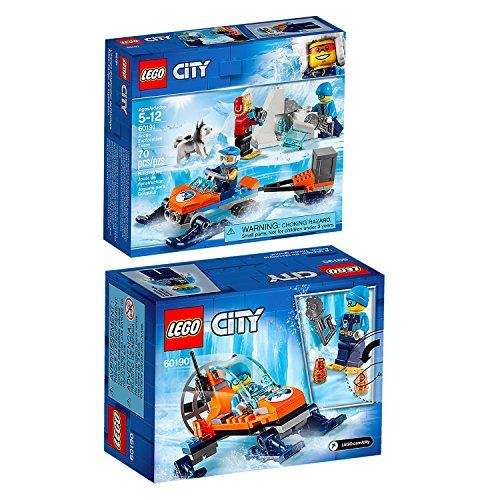 Lego CITY 2er Set 60190 60191 Arktis-Eisgleiter + Arktis-Expeditionsteam