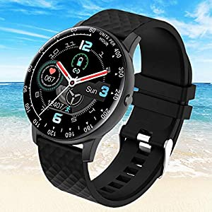 Smart Watch,Fitness Tracker Watch with Heart Rate Blood Pressure Monitor IP67 Waterproof Bluetooth Smartwatch Smart…