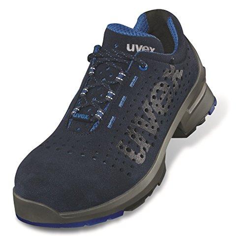 Uvex 1 Arbeitsschuhe - Sicherheitsschuhe S1 SRC ESD - Blau - Weite 14 / Extra Breit, Größe:43