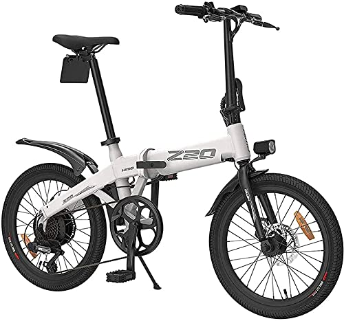 N&I Folding Electric Bikes for Adults Collapsible Aluminum Frame E-Bikes Dual Disc Brakes with 3 Riding Modes Lithium Battery Beach Cruiser for Adults