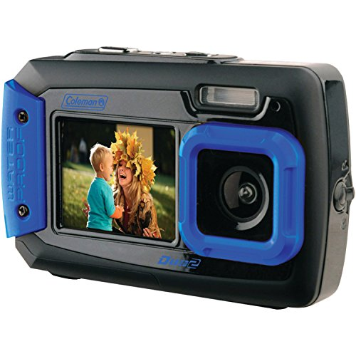 Coleman Duo2 2V9WP-BL 20 MP Waterproof Digital Camera with Dual LCD Screen (Blue)