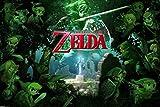 Póster 'The Legend of Zelda/La Leyenda de Zelda' Link Sword/Espada Link/Conección (91,5cm x 61cm) + 1 paquete de tesa Powerstrips® (20 tiras)