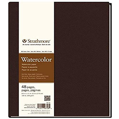 Strathmore (467-8 STR-467-8 48 Sheet No 140 Watercolor Art Journal, 8.5 by 11', 8.5'x11', 24
