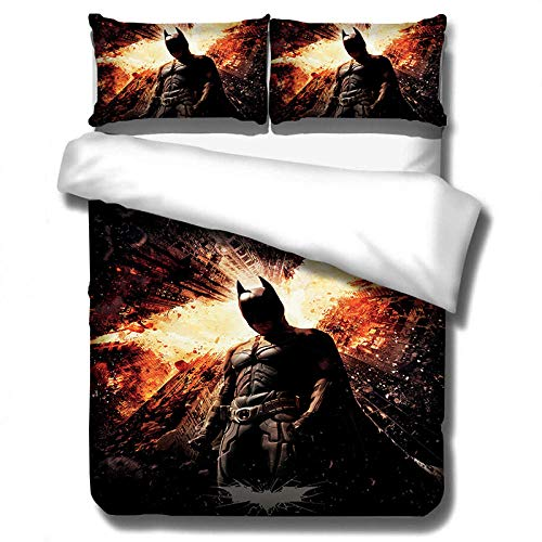 Gvvaceo Bedding Set Movie heroes Quilt Duvet Cover Sets with Pillowcases Children Boys Teen Men Bedroom Decoration Bedding Set Gifts, (single person 135 x 200 cm) Girls Duvet cover Family bedroom be