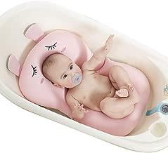 UNAOIWN Baby Bath Cushion, Newborn Bath Anti-Slip Cushion Seat, Infant Floating Bather Bathtub Pad,Shower Bed Security Guaranteed (Pink, Rabbit)