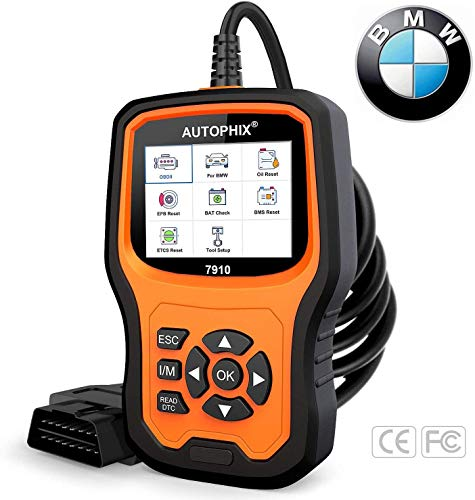 AUTOPHIX Diagnostic Scanner Tool for BMW,Enhanced 7910 Multi-System OBD2 Scanner Auto Fault Code Reader with Battery Registration for All BMW After 1996[New Version]