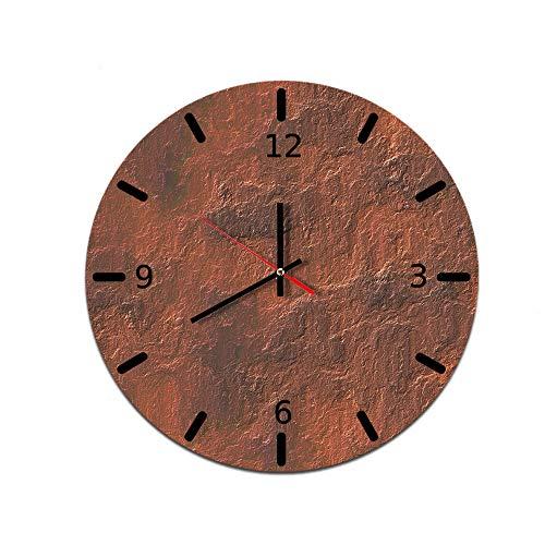 LUOYLYM Patrón De Piedra Reloj De Pared Creativo para El Hogar Reloj De Decoración De Pared De Acrílico Reloj De Espejo con Movimiento Silencioso F514-150 28CM