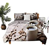 Bed Sheets Queen Espressos in Cups Table Sheets Twin Size W78 xL78