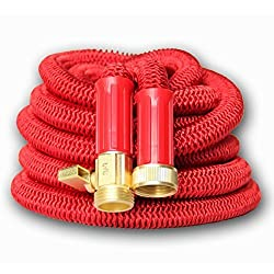 the red hose weighs a lot but it wont kink or burst and is hard to move around - Best Expandable Garden Hose