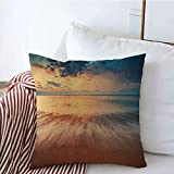 Fundas decorativas para cojines Beautiful HDR Mallorca Cloudscape Beach Over Republic Sand Sunrise Shot Nube Naturaleza Texturas Amanecer Funda de Cojine 45 X 45CM