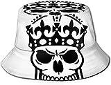 BONRI Sombrero de Pescador Tela de Sarga de poliéster de arándanos, Personalidad Completa, Moda, Sombrero de Pescador con Estampado Lindo y Aterrador.
