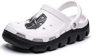 FDSVCSXV Muñuelas de jardín para Hombre Mulas, Zapatos Antideslizantes de Aguas al Aire Libre con Ducha de Playa Sandalias...