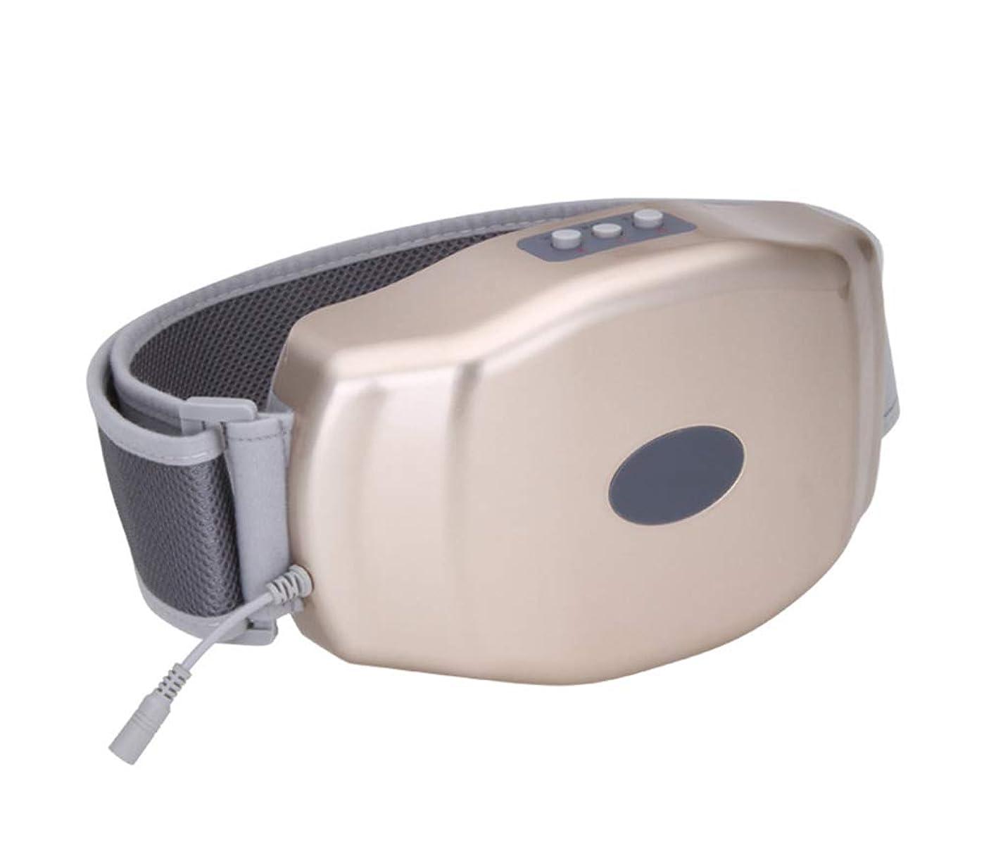 巻き取り心臓干渉多機能腹部マッサージ - 電気ファットバーナー - 腹部減量マッサージ振動便秘腹部理学療法ベルト加熱男性と女性のベルト