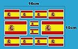 Ecoshirt D0-6VYF-TU6M Aufkleber Fahnen Spanien F207 C Stickers Aufkleber Decals Moto GP Bike Auto Weiß Rand