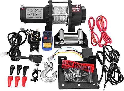 ZGYQGOO Winch eléctrico Winch recuperación eléctrica 12500LBS Kit recuperación Winch 12V con...