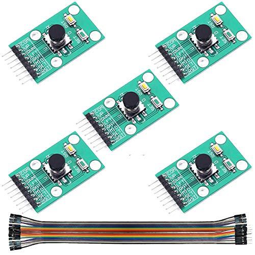 Youmile 5PACK Tastenmodul Wippe 5-Richtungs-Tastenmodul Navigation für MCU AVR-Spiel 5D-Wippe Joystick-unabhängige Tastatur für Arduino Joystick-Modul 5-Kanal mit Dupont Wire