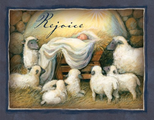 "LANG - ""Rejoice"", Boxed Christmas Cards, Artwork by Susan Winget - 18 Cards with 19 Envelopes - 5.38 x 6.88 Inches"
