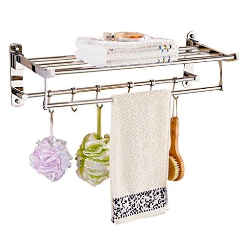 RENJUN Toallero plegable de acero inoxidable 304, toallero de baño, toallero de baño, hogar, cocina, estantería 40/50/60 x 25 x 17,5 cm (tamaño: 50 cm)