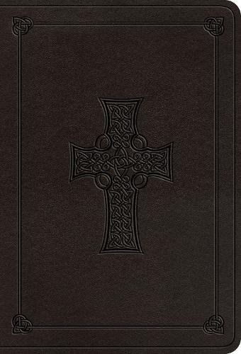 ESV Value Large Print Compact Bible (TruTone, Charcoal, Celtic Cross Design)