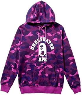 Fashion Bape Printed Casual Loose Pullover Hoodie for Men/Women