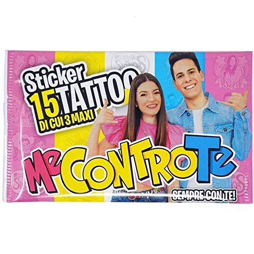 Me Contro Te 15 Tatuaggi 1 BUSTINA Sticker TEMPORANEI Bambini Tattoo Lui E SOFI