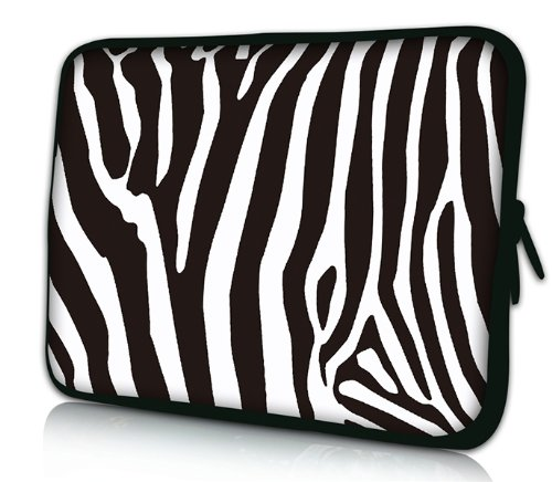 Luxburg Design laptoptas notebooktas sleeve voor 17,3 inch, motief: zebra