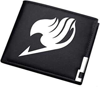 ASLNSONG Anime Slim Front Pocket Wallet Short Pattern PU Purse Wallet for Men Students