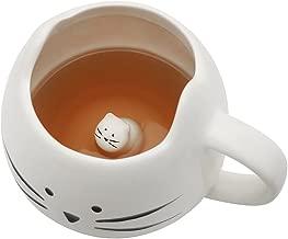 Koolkatkoo Cute Cat Coffee Mug for Cat Lovers Women Girls Ceramic Kitty Water Mugs 12 oz Small Cup White
