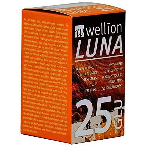 Wellion LUNA Blutzucker-Teststreifen, 25 Stück