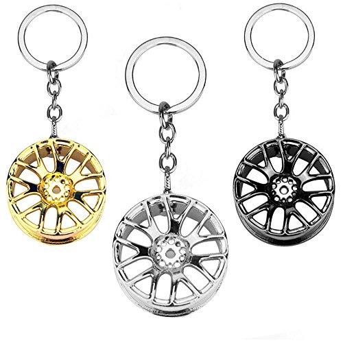 EOPER 3 paquetes de moda rueda cubo modelo llavero creativo hombre llavero coche llavero fresco regalo
