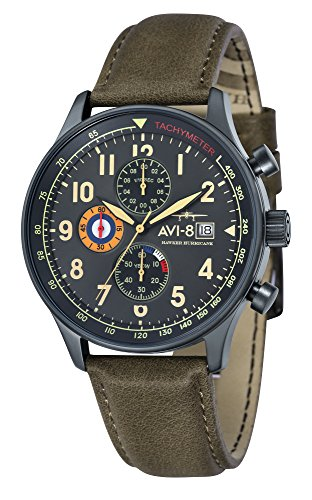 AVI-8 Reloj Analógico para de los Hombres de Cuarzo con Correa en Cuero AV-4011-0E