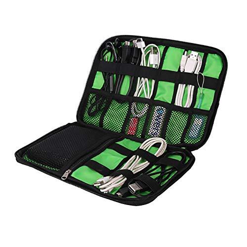 Asien 1Pc Organizador electrónico de Viaje Bolsa Universal para Cable Organizador Impermeable...