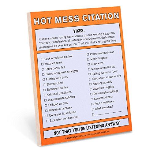 Knock Knock 12097 Nifty Note Pad, Hot Mess Citation